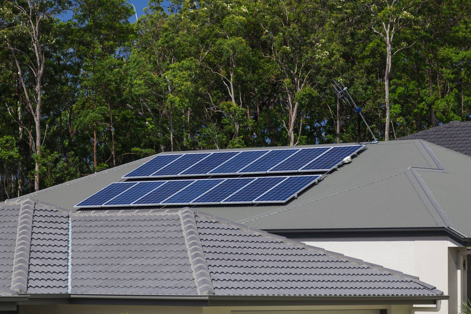 Roof top mounted solar panels